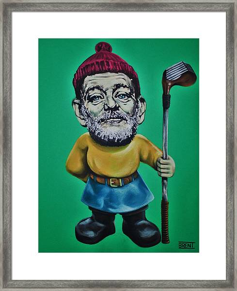 Bill Murray Golf Gnome Framed Print