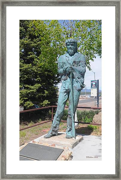 Bill Williams Statue Framed Print