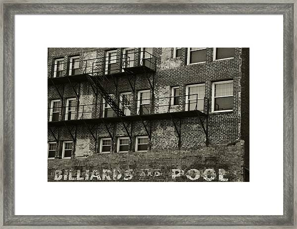 Billiards And Pool Framed Print