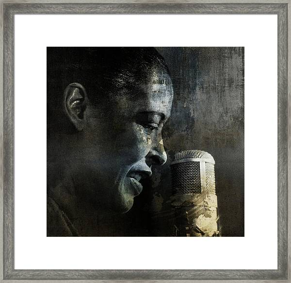 Billie Holiday - All That Jazz Framed Print