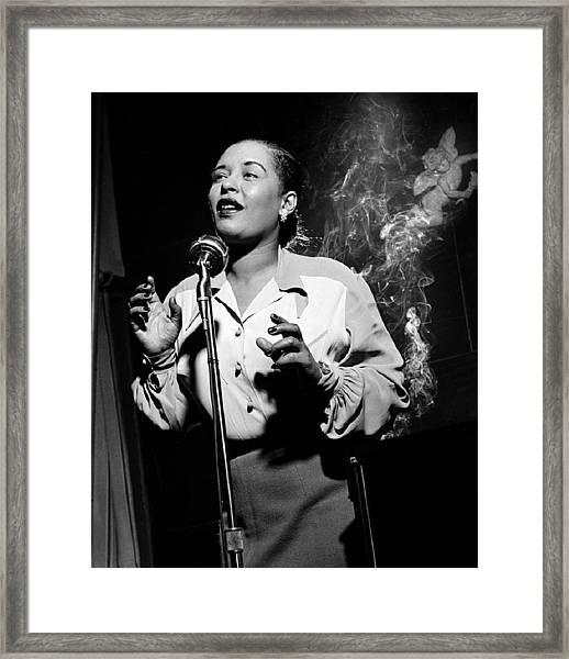 Billie Holiday  New York City Circa 1948 Framed Print