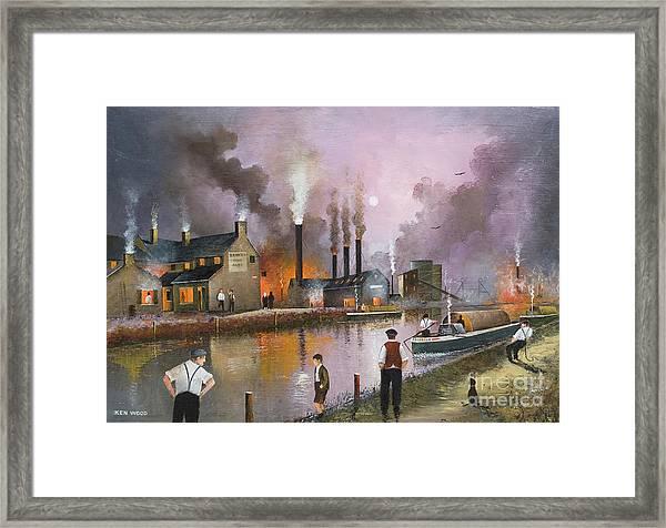 Bilston Steelworks Framed Print