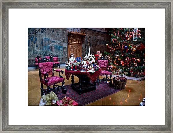 Framed Print featuring the photograph Biltmore Christmas   by William Jobes