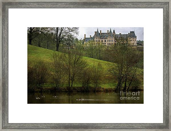 Biltmore Estate At Dusk Framed Print