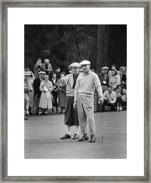 Bing Crosby And Ben Hogan Framed Print