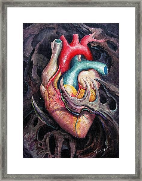 Bio Heart Framed Print