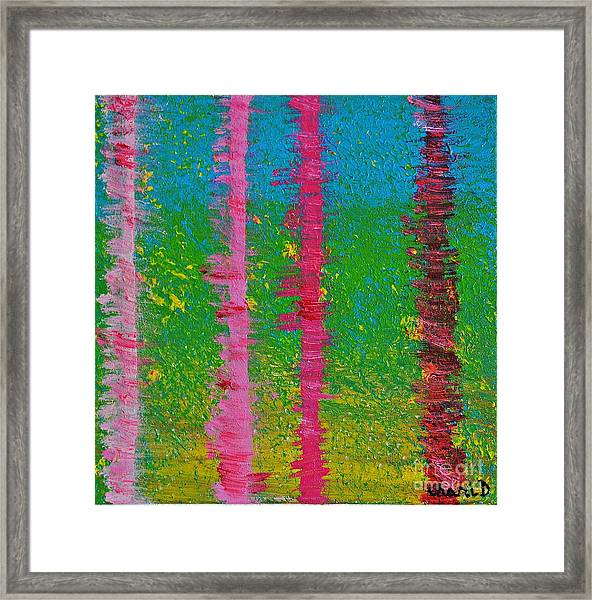 Birch Trees In The Wind Framed Print