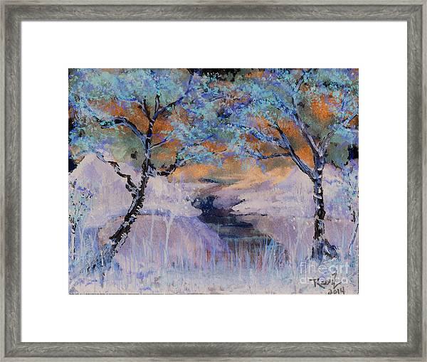 Birch Trees On The Ridge 2 Framed Print