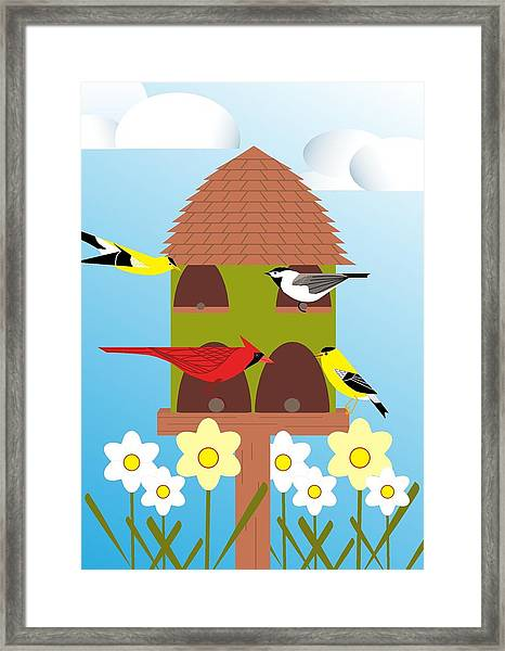 Bird Feeder Framed Print