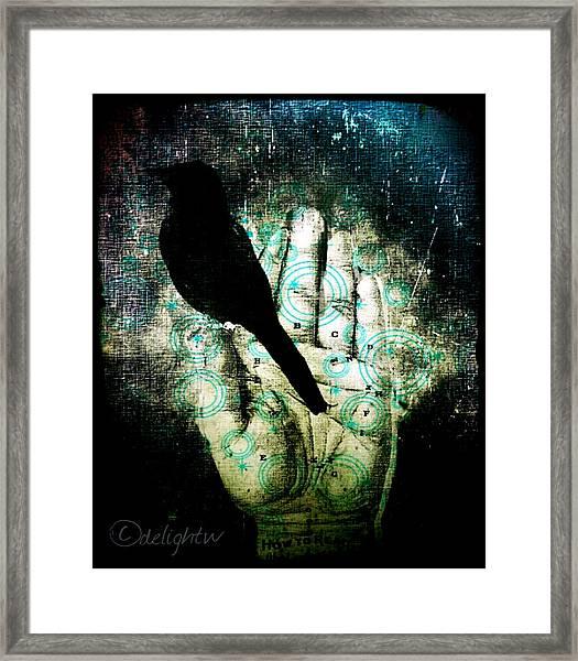 Bird In Hand Framed Print