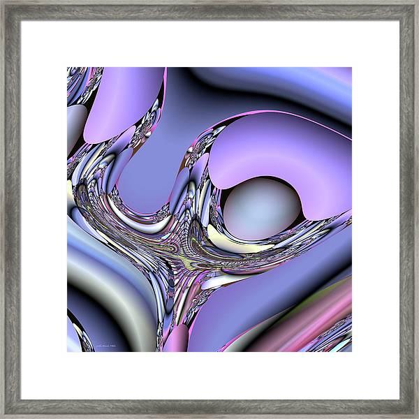 Bird Nest Fractal Framed Print