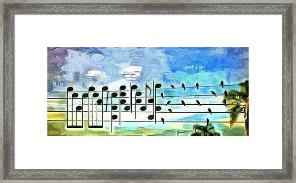 Bird Orchestra - Da Framed Print
