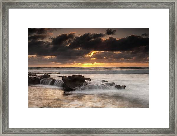 Bird Rock Clearing Storm Framed Print