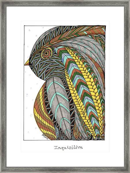 Bird_inquisitive_s007 Framed Print