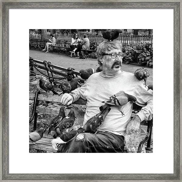 Framed Print featuring the photograph Birdman Of Wsp by Eric Lake
