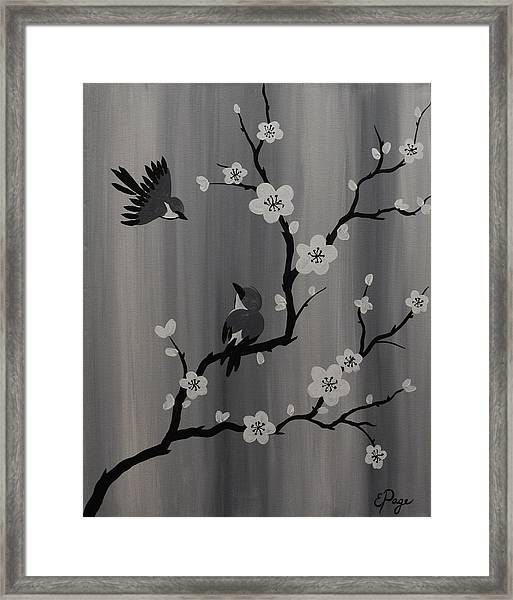 Birds And Blossoms Framed Print