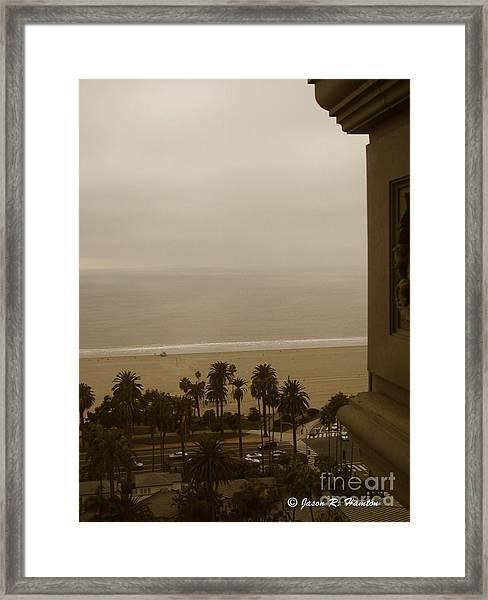 Birds Eye In Santa Monica Framed Print by Jason R Hampton