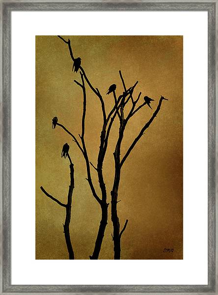 Birds In Tree Framed Print