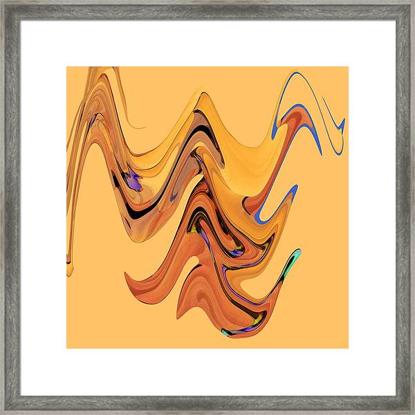 Framed Print featuring the digital art Birds Of Paradise Improvisation by Gina Harrison