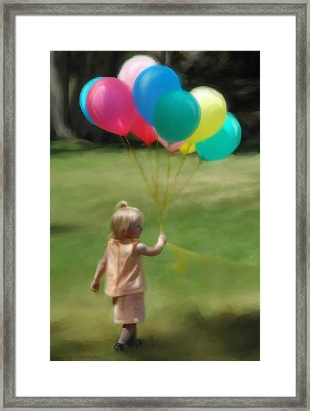 Birthday Balloons Framed Print by Lisa  Westrope