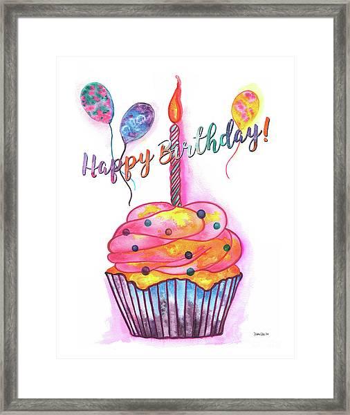 Birthday Cupcake Framed Print