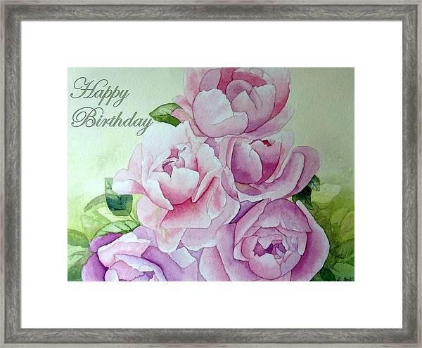 Birthday Peonies Framed Print