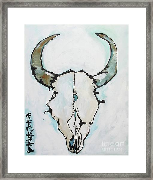 Bison Skull #2 Framed Print
