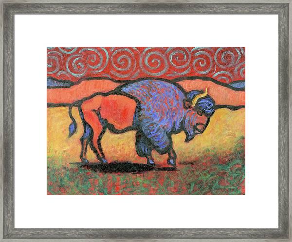 Bison Totem Framed Print