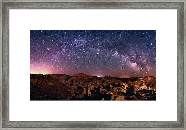 Bisti Badlands Night Sky - 2 Framed Print