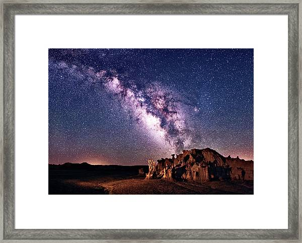 Bisti Badlands Night Sky Framed Print