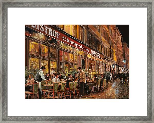 Bistrot Champollion Framed Print