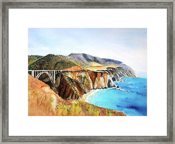 Bixby Bridge Big Sur Coast California Framed Print