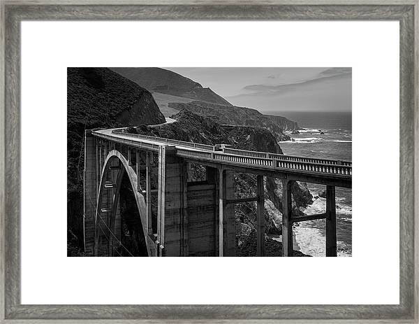 Bixby Bridge Big Sur II Bw Framed Print