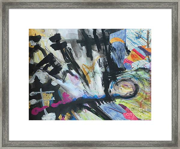 Black Abstract Framed Print
