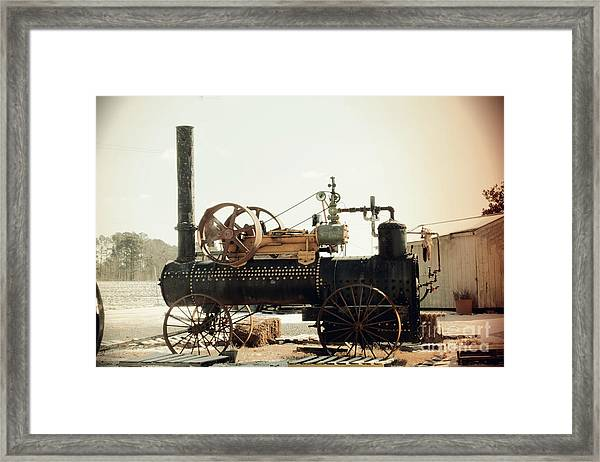 Black And Glorious Steam Machine Framed Print