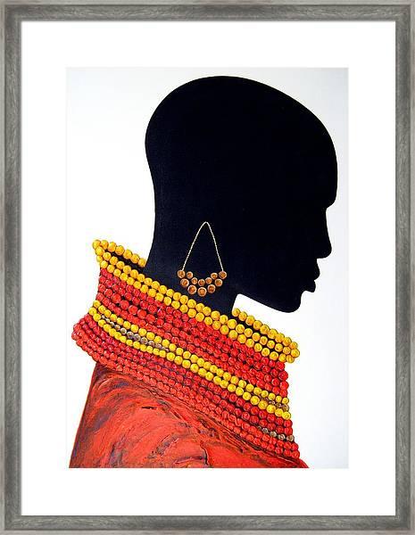 Black And Red - Original Artwork Framed Print