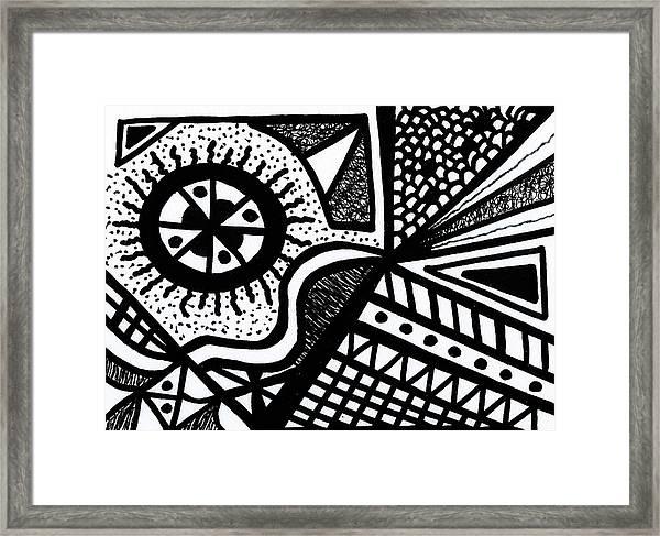 Black And White 14 Framed Print
