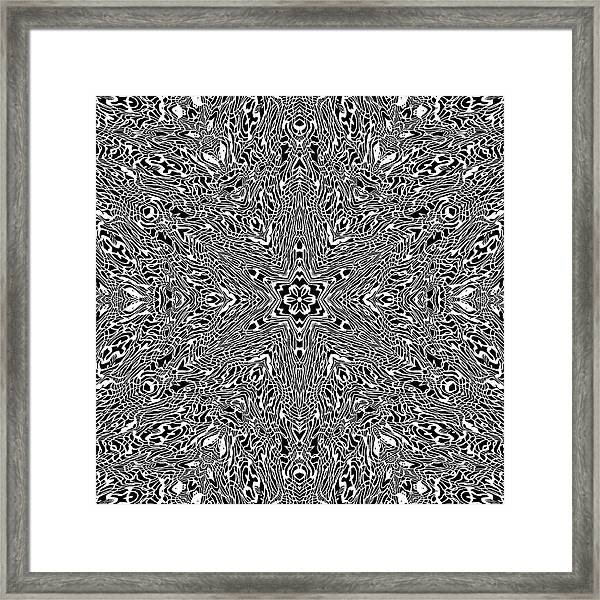 Framed Print featuring the digital art Black And  White 24 by Robert Thalmeier