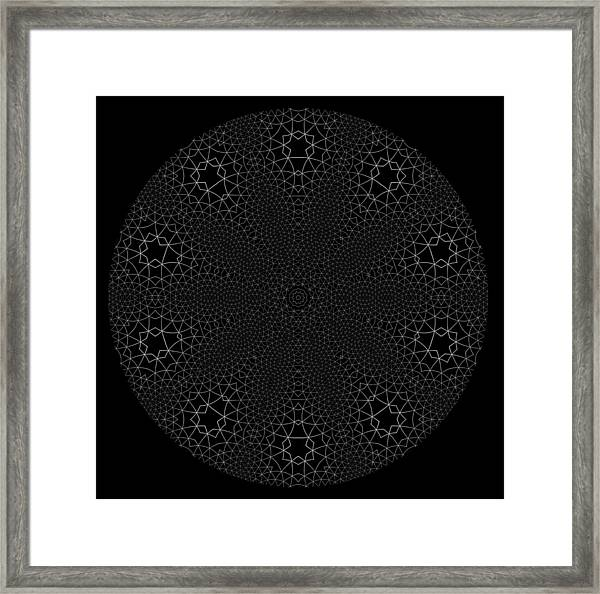 Framed Print featuring the digital art Black And White 3 by Robert Thalmeier