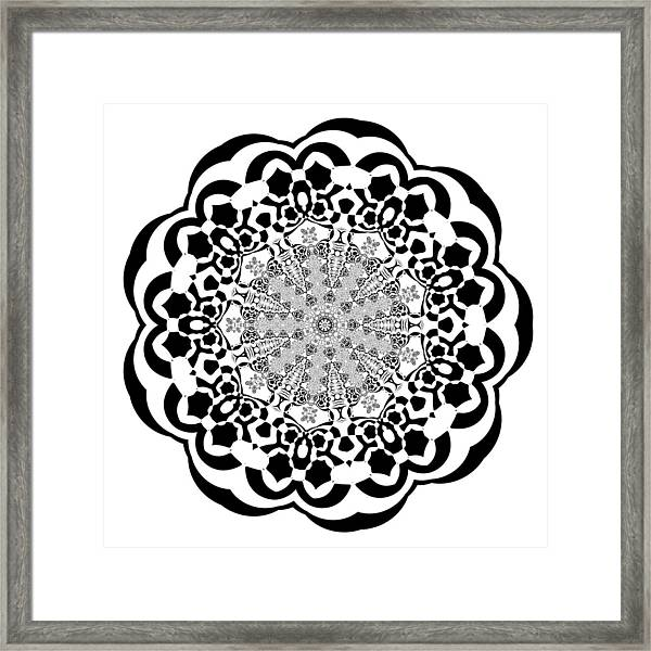 Framed Print featuring the digital art Black And White 4 by Robert Thalmeier