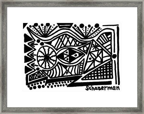 Black And White 4 Framed Print