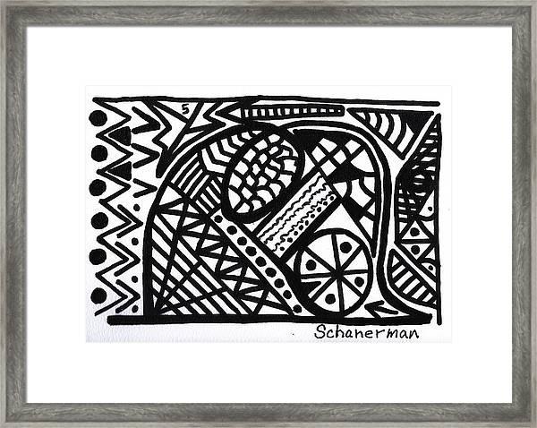 Black And White 5 Framed Print