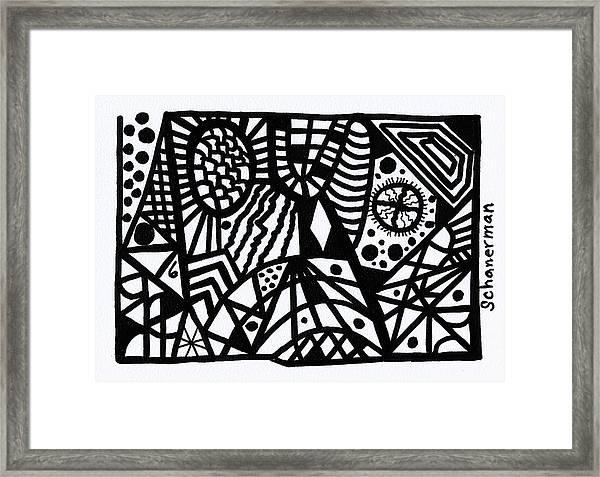 Black And White 6 Framed Print