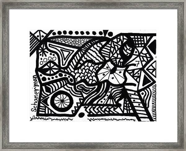 Black And White 7 Framed Print