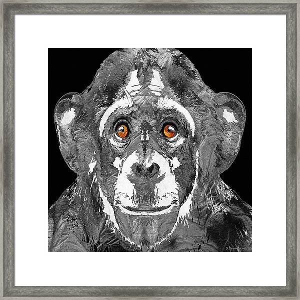Black And White Art - Monkey Business 2 - By Sharon Cummings Framed Print