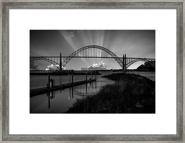 Black And White Bridge Framed Print