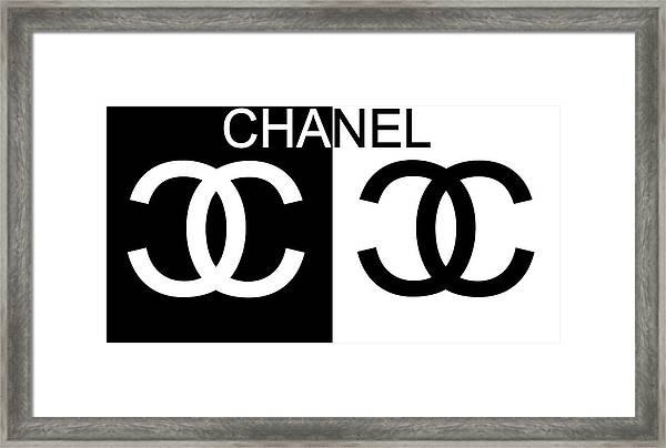 Black And White Chanel 2 Framed Print