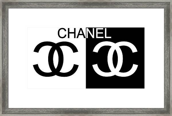 Black And White Chanel Framed Print