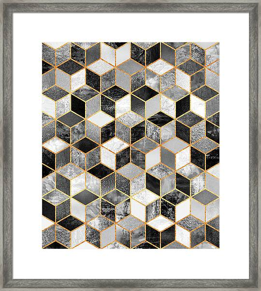 Black And White Cubes Framed Print