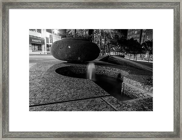 Black And White Fountain Framed Print
